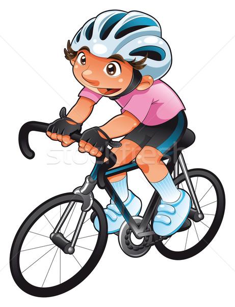 Baby fietser grappig cartoon vector karakter Stockfoto © ddraw