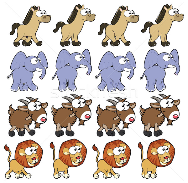Dier lopen vector cartoon geïsoleerd Stockfoto © ddraw