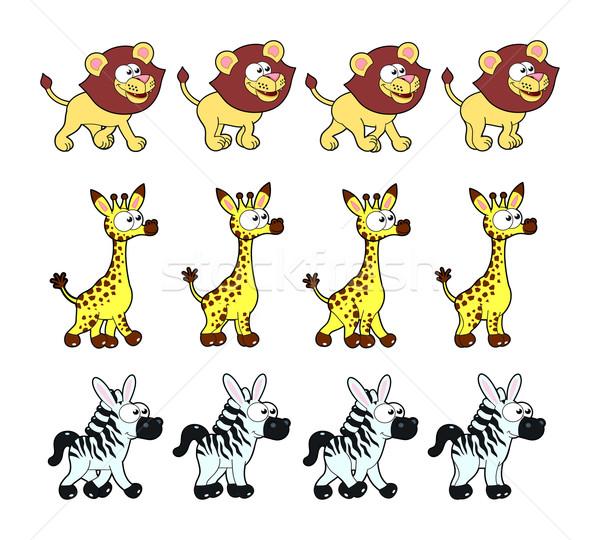 Animal Walking animations Stock photo © ddraw