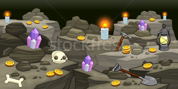 Mine with objects.  Stock photo © ddraw