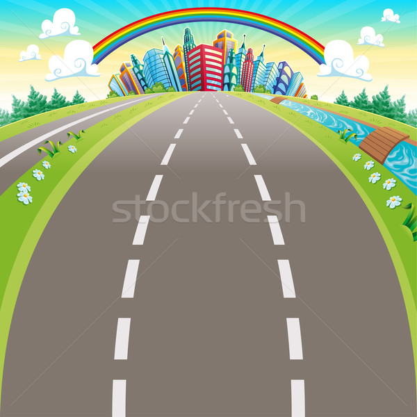 Stock photo: Roads to the city.