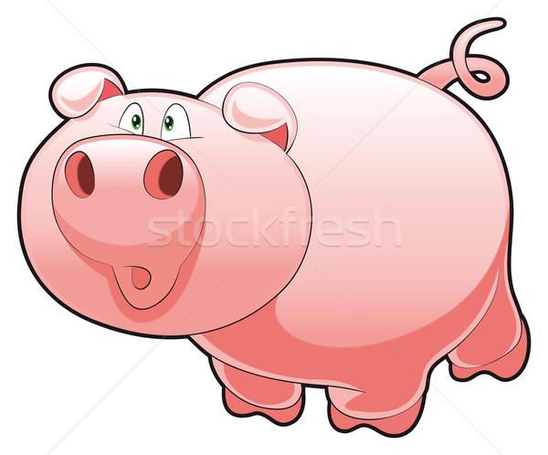 Bebê porco engraçado desenho animado vetor Foto stock © ddraw