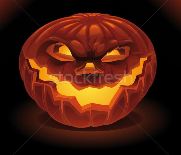 Scary zucca buio vettore halloween illustrazione Foto d'archivio © ddraw