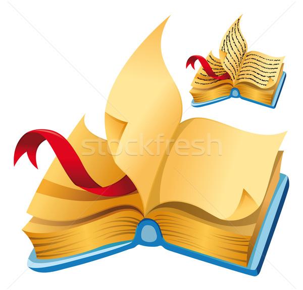 Książki cartoon wektora pojedyncze obiekty szkoły edukacji Zdjęcia stock © ddraw
