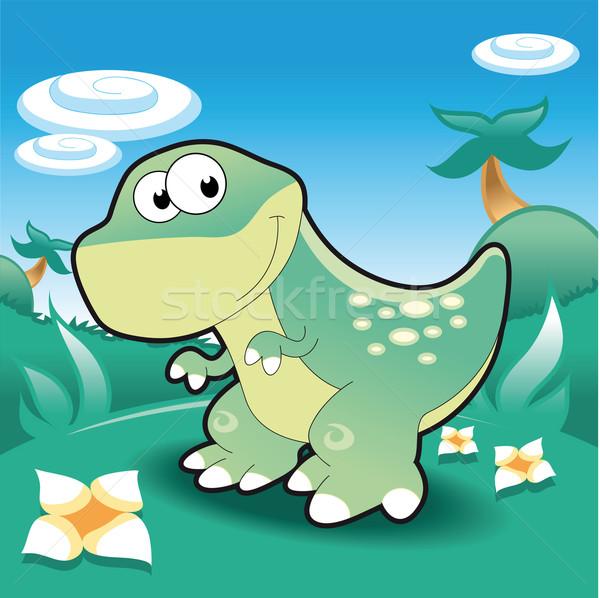 Baby Tyrannosaur. Stock photo © ddraw