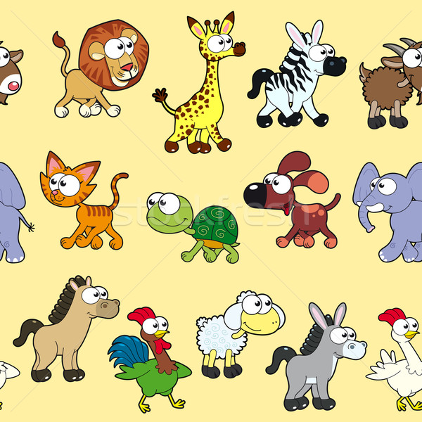 Group of animals with background. Stock photo © ddraw