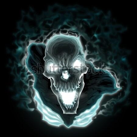 Démon feu vecteur horreur illustration noir Photo stock © ddraw
