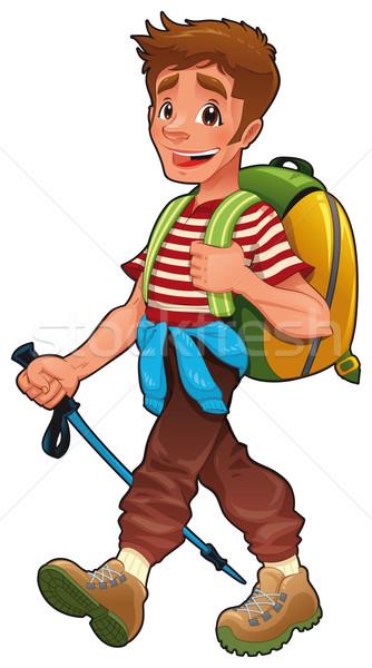 Trekking boy.  Stock photo © ddraw