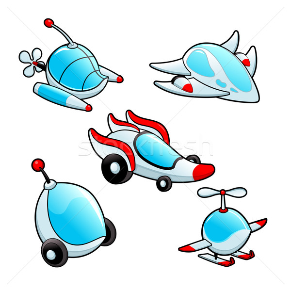 Funny spaceships Stock photo © ddraw