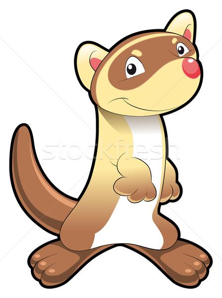Baby fret grappig cartoon vector geïsoleerd Stockfoto © ddraw