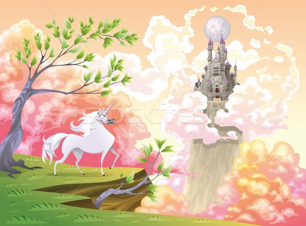神話の 風景 漫画 オブジェクト 孤立した 笑顔 ストックフォト © ddraw