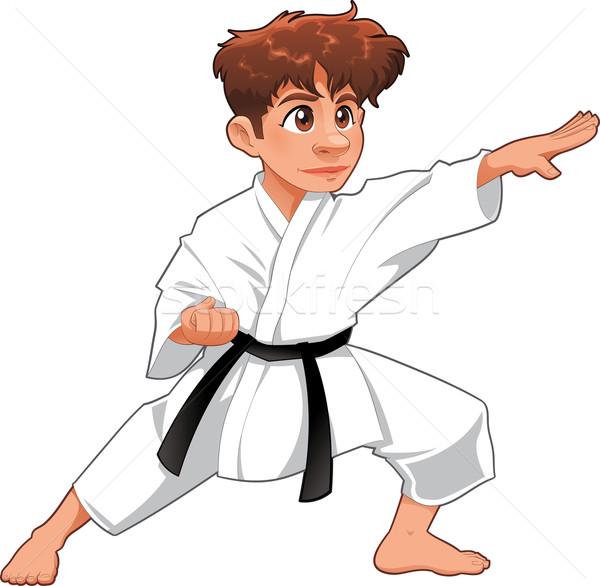 Baby Karate Player. Stock photo © ddraw