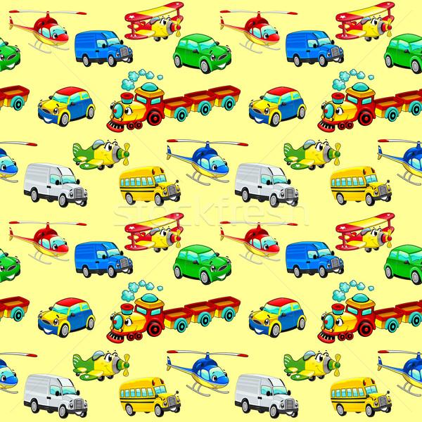 Funny Fahrzeuge wiederholen möglich Verpackung Grafik Stock foto © ddraw
