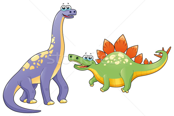 Couple of funny dinosaurs. Stock photo © ddraw