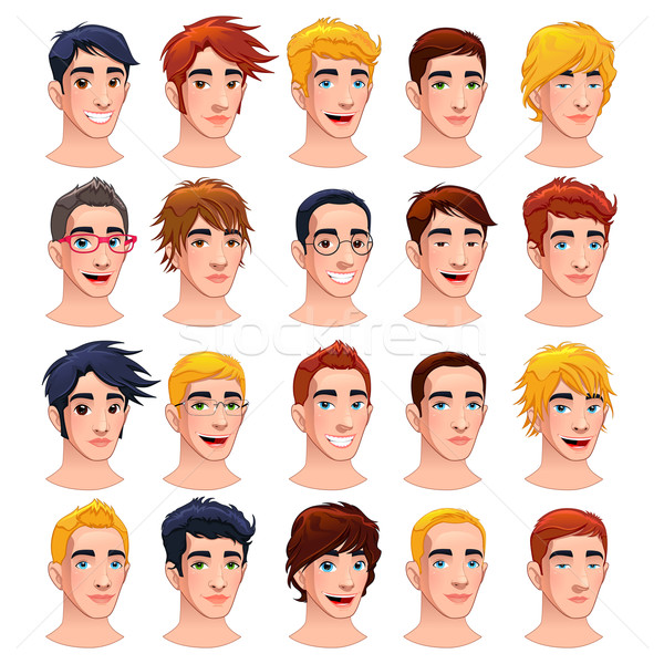 Avatar mannen cartoon vector geïsoleerd Stockfoto © ddraw