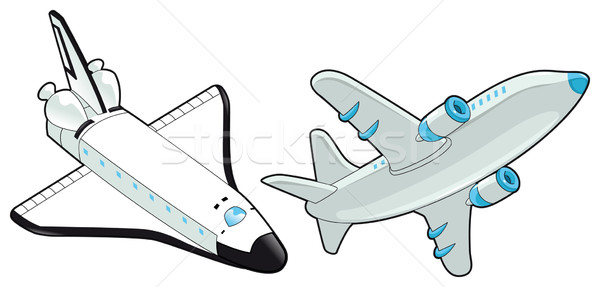 Airplane and shuttle. Stock photo © ddraw