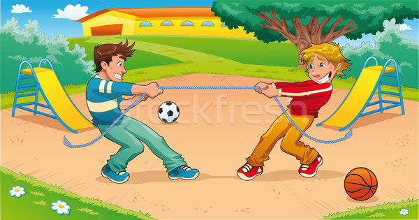 Tug of war with background. Stock photo © ddraw
