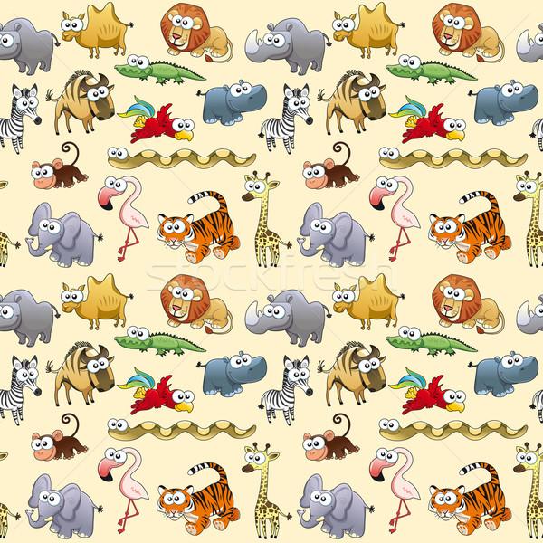 саванна животные повторять возможное упаковка графических Сток-фото © ddraw
