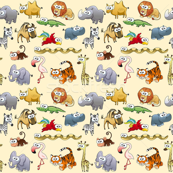 Savannah animals with background. Stock photo © ddraw