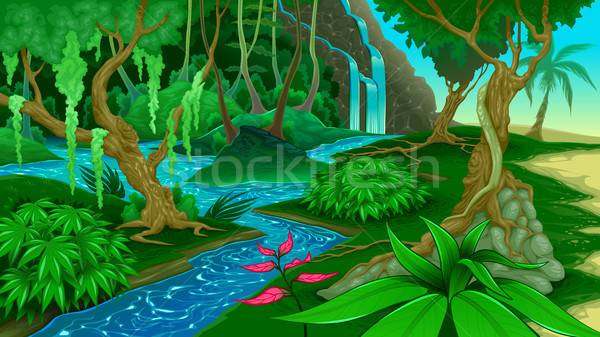View in the jungle Stock photo © ddraw