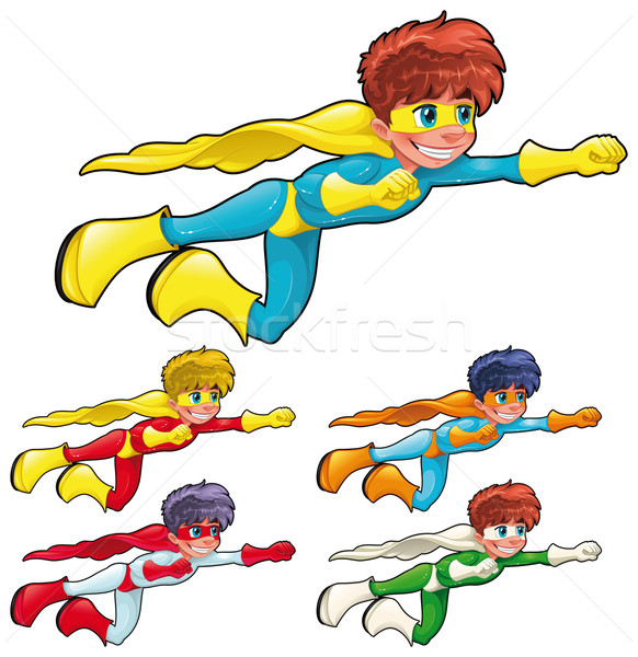 Young superheroes. Stock photo © ddraw