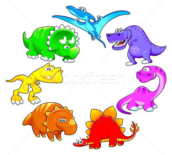 Dinosaurs rainbow. Stock photo © ddraw