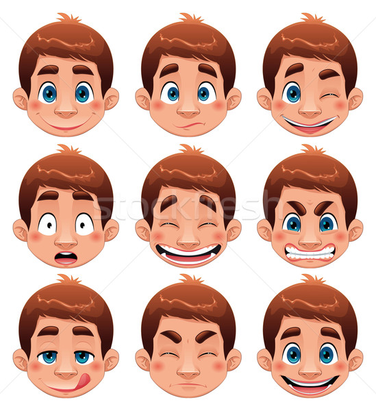 Boy Expressions.  Stock photo © ddraw