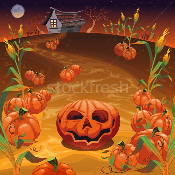 Alan komik karikatür vektör halloween Stok fotoğraf © ddraw