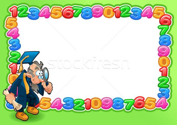 Vicces kártya üres hely szöveg férfi iskola Stock fotó © ddraw