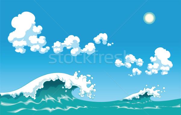 Zomer golf geïsoleerde objecten water zon zee Stockfoto © ddraw