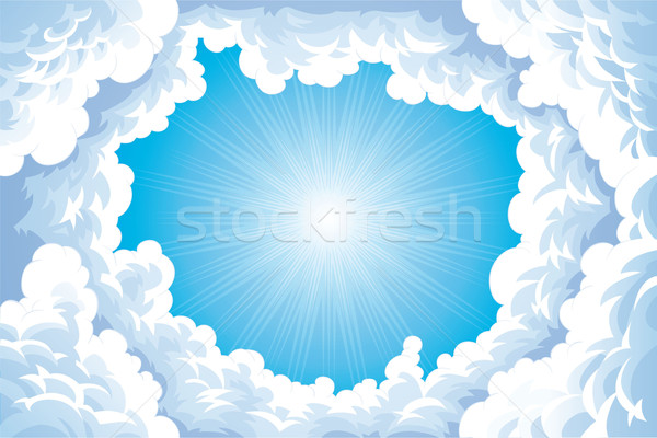 Sun in the sky with clouds. Stock photo © ddraw