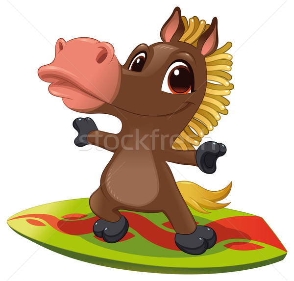 Stock photo: Horse with surf.
