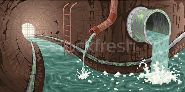 Inside the sewer.  Stock photo © ddraw