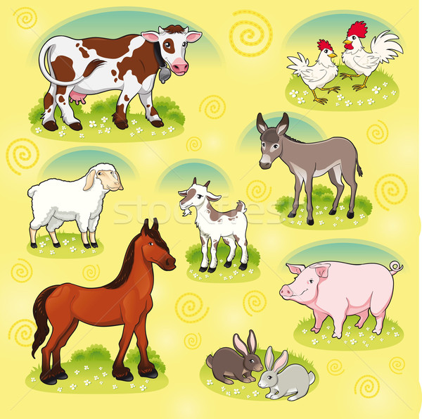 Farm animals. Stock photo © ddraw