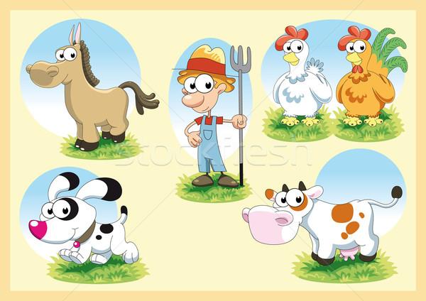 Farm famiglia vettore cartoon illustrazione sorriso Foto d'archivio © ddraw