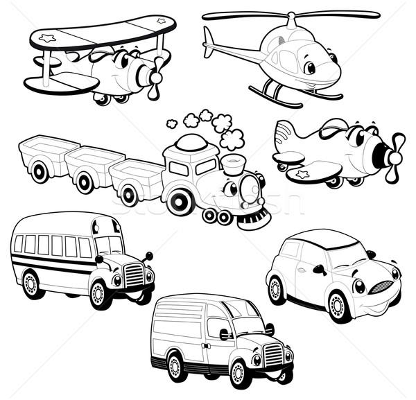 Stok fotoğraf: Komik · araçlar · karikatür · vektör · izole · nesneleri