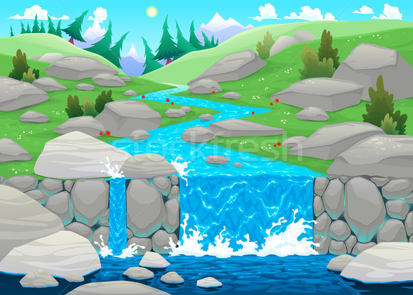 Mountain landscape with river.  Stock photo © ddraw