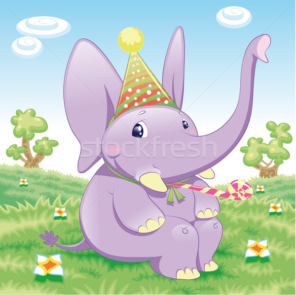 Baby Elephant - Party. Stock photo © ddraw