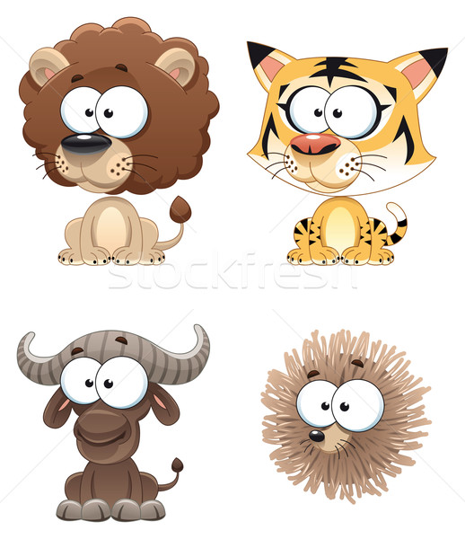 Engraçado animal África desenho animado vetor Foto stock © ddraw