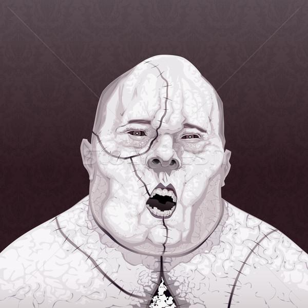 Zombie portret horror chłopca tłuszczu martwych Zdjęcia stock © ddraw