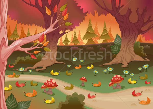 Natural landscape in the wood Stock photo © ddraw