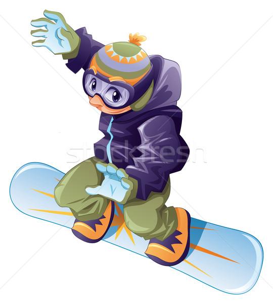 Giovani snowboarder vettore cartoon sport carattere Foto d'archivio © ddraw