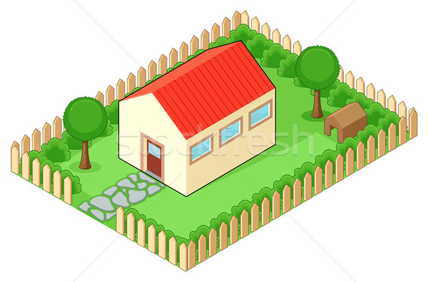 Isolated house Stock photo © ddraw