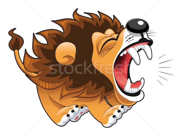 Barking lion. Stock photo © ddraw