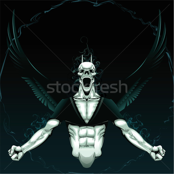 Angry Demon with background.  Stock photo © ddraw