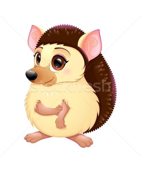 Cute grappig cartoon vector geïsoleerd karakter Stockfoto © ddraw