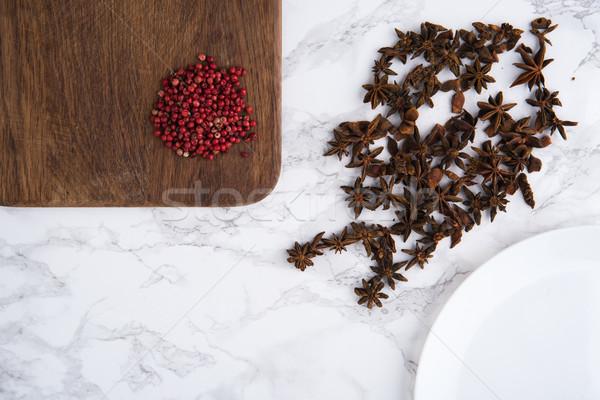 портрет анис семян красный перец Сток-фото © deandrobot