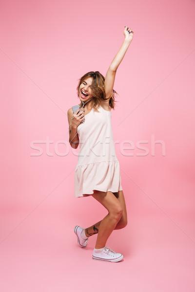 Ritratto felice gioioso ragazza estate Foto d'archivio © deandrobot