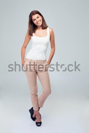 Ritratto giovani donna piedi Foto d'archivio © deandrobot