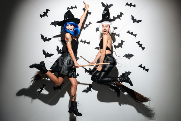 Mulheres jovens halloween foto dois Foto stock © deandrobot